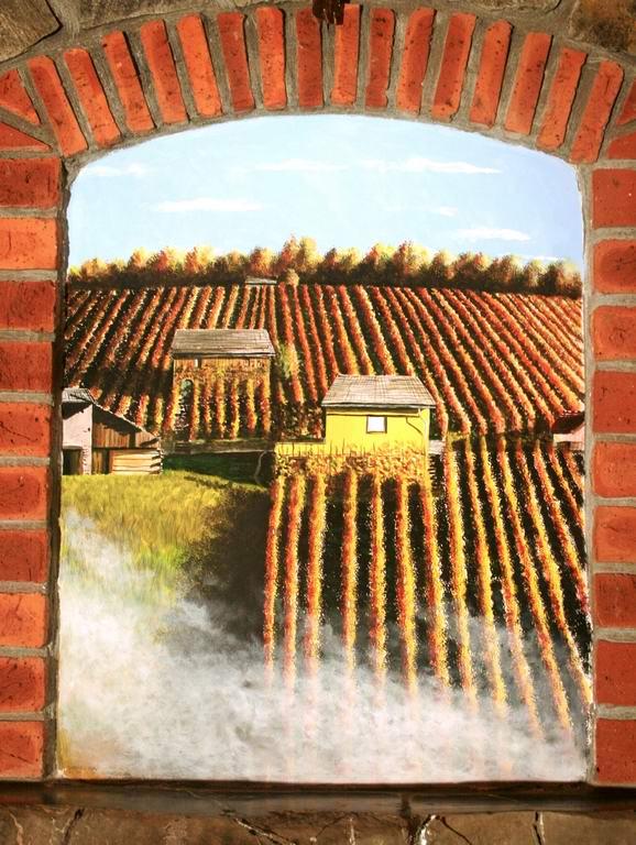 asadna barva na zid, 76x60 cm