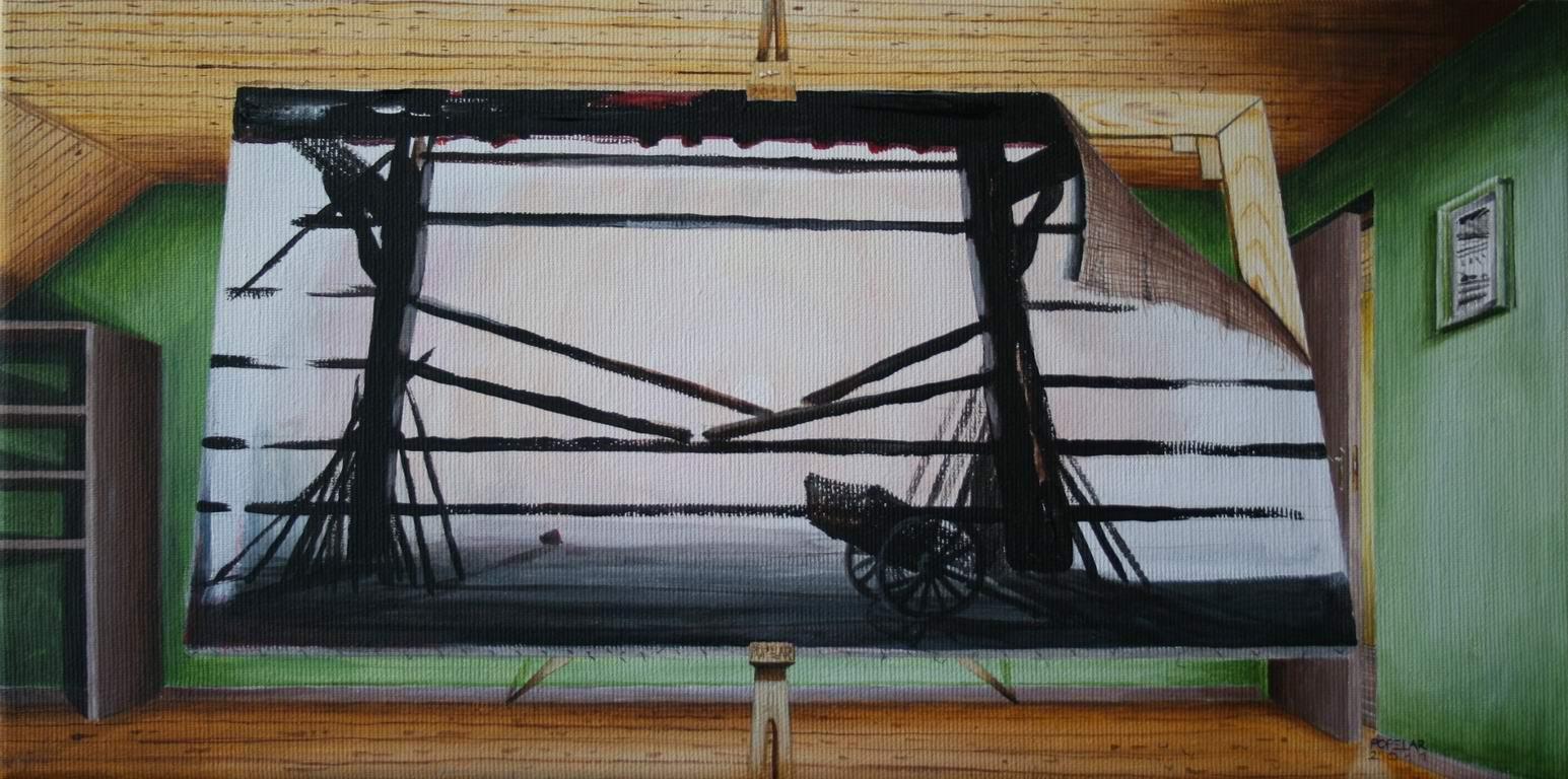 akril na platno, 20x40 cm