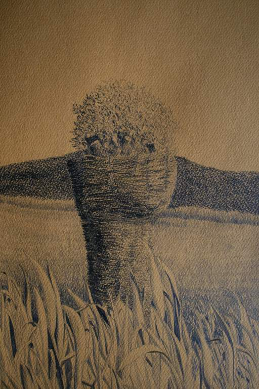 grafit na papir, 54x37 cm